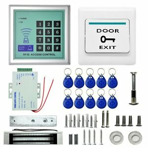 620 Lbs Kit Electric Door Lock Electromagnetic Magnetic Access Control Bg Safe