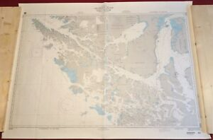 Nautical Chart Used In Sailing Expedition Dragons Tail Straits Of Magellan Chile