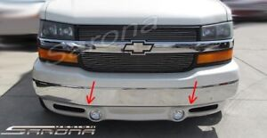Chevy Van Express Gmc Savana Custom Conversion Front Spoiler Lip Air Dam Lights