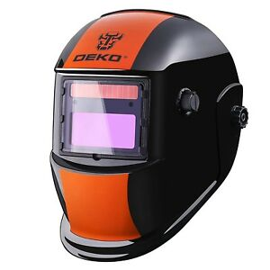 Electric Welding Helmet Face Mask Grinding Shield Auto Darkening Solar Powered