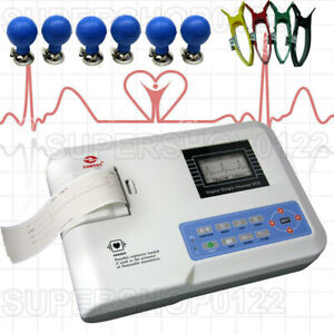 Portable Digital 3 channel 12 Leads Electrocardiograph Ecg ekg Machine Printer