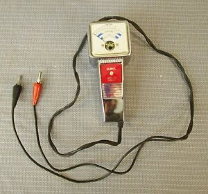 Vtg Automotive Ohmmeter Ignition Cable Diode Tester 0 500 000 Ohms Chrome Steel