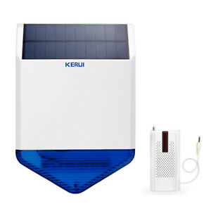 Kerui Outdoor Solar Powered Spot Siren For Security System Launcher For Alarm