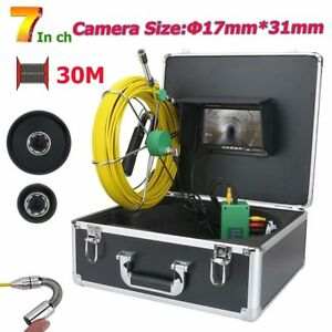 7 lcd 1000 Tvl 17mm Drain Pipe Sewer Inspection Video Camera System 50m Cable