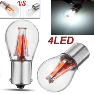 4 Led 1157 Bay15d Bulb Lamp Car Reverse Turn Singal Rear Light 12 24v White