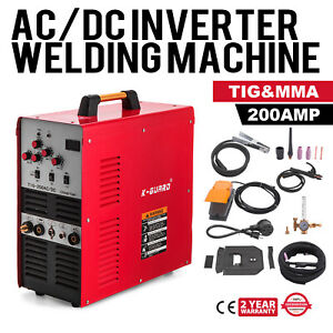 Tig Stick Square Wave Inverter Ac dc Pulse Aluminum 200 Amp Welding Machine