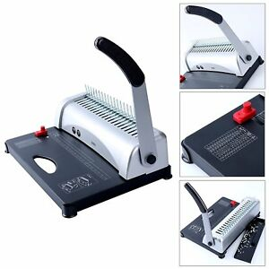 Efficient 21 hole 450 Sheets Paper Comb Punch Binder Binding Machine Scrapbook