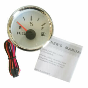 Universal 52mm 2 Fuel Level Gauge 0 90ohm E F Modification For Auto Boat White