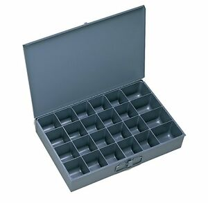 Metal 24 Hole Storage Bolt Bin Cabinet Tray Box Nuts Bolts Fasteners Screws