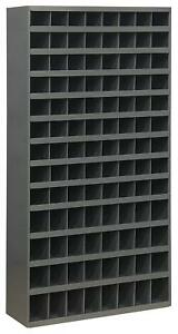 Metal 104 Hole Storage Bolt Bin Cabinet Nuts Bolts Fasteners Screws 5 Ft Tall