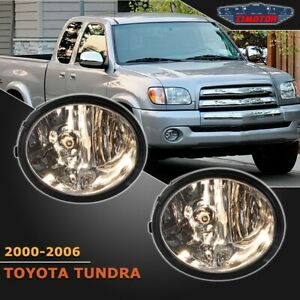 Fit Toyota Tundra 00 06 Clear Lens Pair Bumper Fog Light Lamp wiring switch Kit
