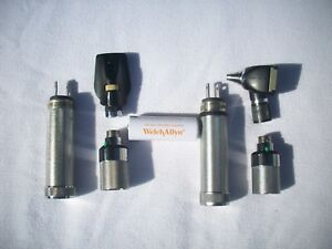 Welch Allyn 71050 c Otoscope 11610 Opthalmoscope With 1 Battery Work Free Ship