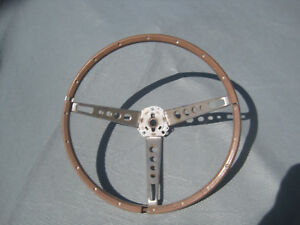 1965 1966 Ford Mustang Gt 3 Spoke Woodgrain Deluxe Steering Wheel Core