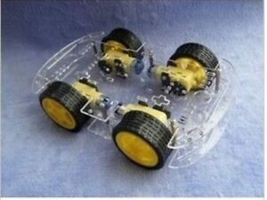 Free Shipping 4wd Smart Robot Car Chassis Kits For Arduino With Speed Encoder Ne