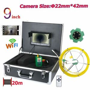 9 Wifi Wireless 22mm Industrial Pipe Sewer Inspection Video Camera System Ip68