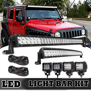 52inch 700w Led Light Bar Combo 22inch 4 For Jeep Wrangler Jk Yj Tj Cj Lj 50