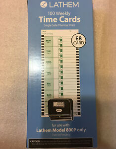 4 X Lathem 800p Weekly Thermal Print Time Cards Single Sided fast Free Shipping