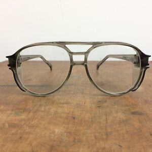 Vintage Safety Glasses Goggles Motorcycle Clear Lens Work Riding Aerosite Gray
