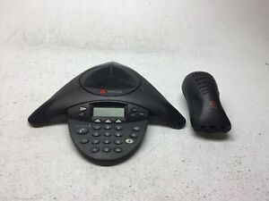 Polycom Soundstation 2 2201 16200 601 Conference Phone W Wall Module No Cables
