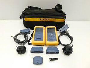 Fluke Dsp 4300 Cable Analyzer W Smart Remote Case Adapters e9 824
