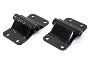 Umi 0051 Motor Mounts Frame Pads Black Powdercoated Chevy Small Block Pair
