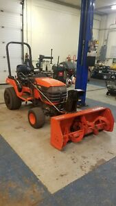 Oem Used Kubota Tractor Bx2200d With Mower Deck Snow Blower Brush Hog Bagger