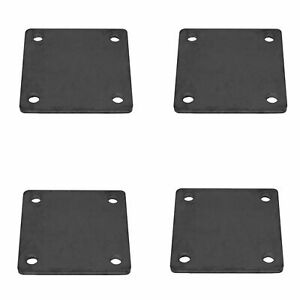 5 X 5 Heavy Duty Welding Base Plate With Holes 4 Pieces