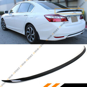For 2013 17 Honda Accord 4dr Sedan Jdm Glossy Black Sport Trunk Lid Spoiler Wing