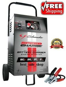 Portable Car Battery Charger Wheeled Engine Start Automatic Booster Garage 12v