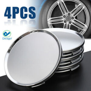 4pc Universal 63mm 2 5 Car Wheel Hubs Center Caps Covers No Badge Emblem Silver