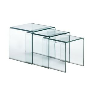 Explorer Nesting Table Clear Glass