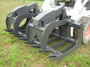 Bobcat Skid Steer Attachment 72 Severe Duty Root Grapple Bucket Ship 199