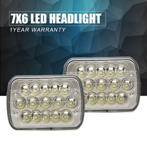 Rectangle Sealed Beam Headlamps Headlights R L Set Of 2 For Chevy Pickup Truck