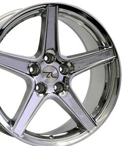 18 Chrome Mustang Saleen Style Wheels 18x9 18x10 5x114 3 Rims Ford Sn95 94 04