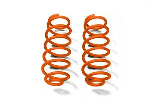 Orange Rear Coil Springs For Jeep Wrangler Jk 2007 2018 With 4 Lift Steinjager