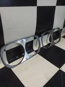 1966 Ford Thunderbird Head Light Trim Ring Bezels Moldings 081713