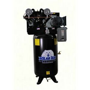 7 5hp V4 Singe Phase 80 Gallon Vertical Air Compressor