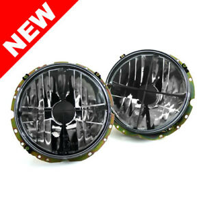 Vw Rabbit Mk1 Cabriolet E code 7 Round Crosshair Headlights Crystal Clear