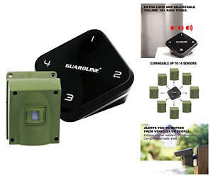 Guardline Long Range Wireless Alarm Detector Motion Sensor For Driveway Outdoor