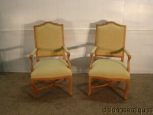 38948 Ethan Allen Solid Maple Framed French Style Pair Of Chairs