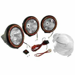 7 In Round Hid Offroad Light Kit Blk Composite Hou