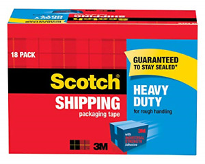Scotch Heavy Duty Shipping Packaging Tape 3 Core 1 88 X 54 6 Yards 18 rolls