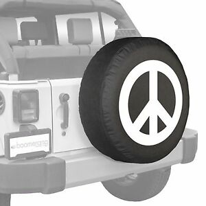 32 Boomerang Peace Sign Tire Cover White Fits Jeep Wrangler Jk Usa