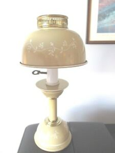 Vintage Mid Century Modern 1960s Coffee Tan Tole Desk Bedroom Table Reading Lamp