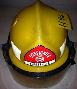 Firefighter Bunker Turn Out Fire Gear Cairns N660c Yellow Helmet W Visor H96