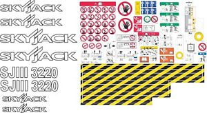 Skyjack Sjiii 3220 Scissor Lift Aftermarket Decal Kit