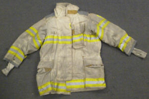 40x34 Securitex Firefighter Jacket Coat Bunker Turn Out Gear Gray J669