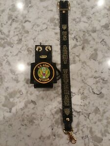 Firefighter Radio Strap And Holster Army Veteran Leather Hand Made