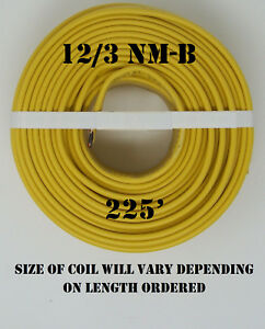 12 3 Nm b X 225 Southwire romex Electrical Cable