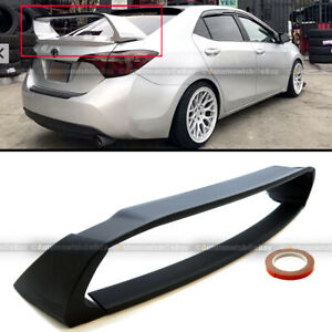 For 14 18 Toyota Corolla E170 Abs Unpainted Mugen Style 4pic Trunk Wing Spoiler